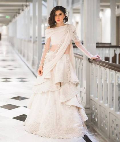 Sherry Shroff at her wedding | #Trending&How – White & Crème is the new bridal dream!