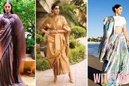 Sonam Kapoor ways to wear a saree