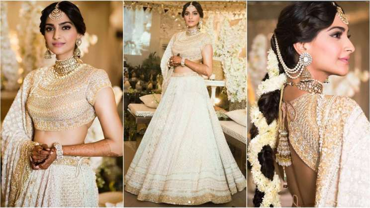 Sonam Kapoor in Abu Jani|#Trending&How – White & Crème is the new bridal dream!