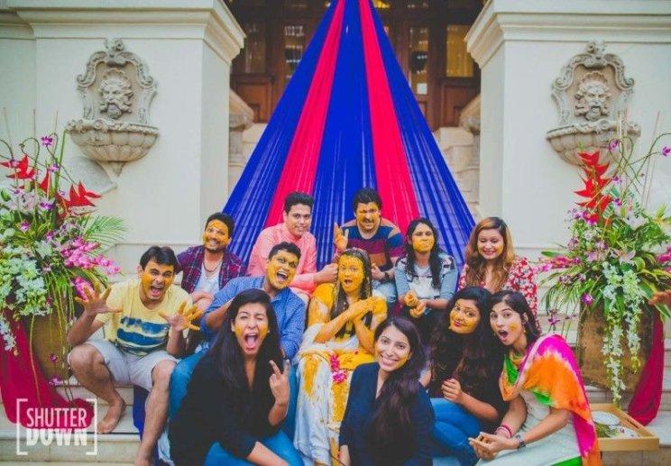 Fun with bride gang