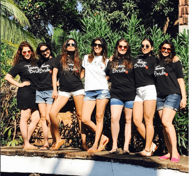 Coordinate t shirts | #FriendshipDaySpecial – Indian bachelorette ideas from celebrity bridesmaids