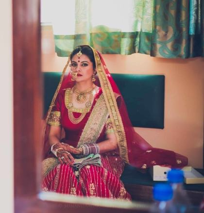 Bride wearing mom's lehenga | #JustMaaruThings – Ideas to Celebrate your Teej Function in style