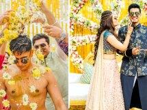 Abheshek & Smily | Chandigarh Weddings | Haldi pictures | Candid photos | Indian wedding rituals | Yellow theme | Haldi decor ideas | Destination weddings | Groom photos | Poses for grooms