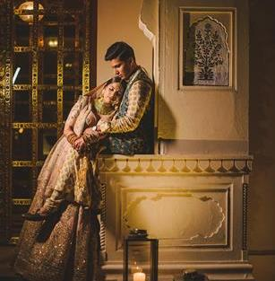 Abheshek & Smily   Chandigarh Weddings   Bride and groom   Couple photo shoot ideas   Sabyasachi Mukherjee outfits   Indian wedding Photography   Real Weddings   Indian couples  
