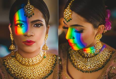 Abheshek & Smily - A Chandigarh Wedding full of fun photo | Sabyasachi bride | Kundan jewellery | maangtika latest | kundan jadau necklace