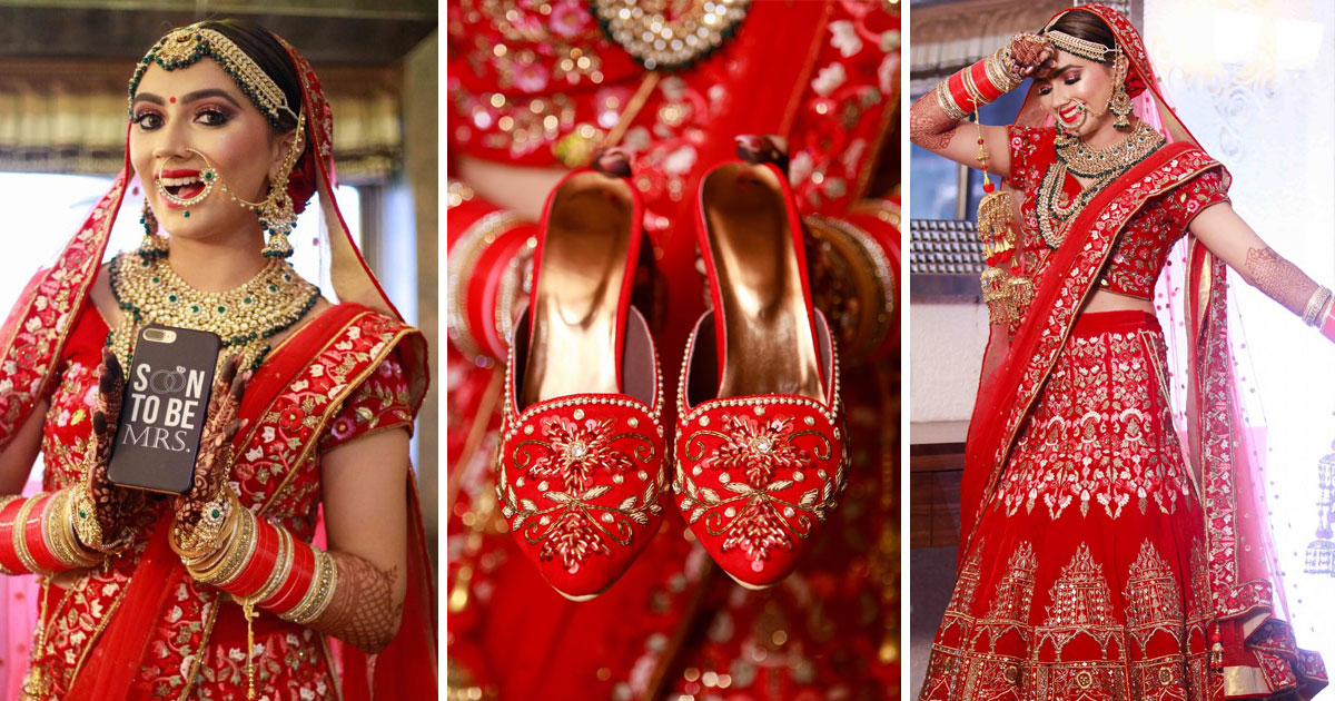 Meghna Sadwani | Super cute wedding with a bridal photoshoot to love and so much bridal swag | bridechilla