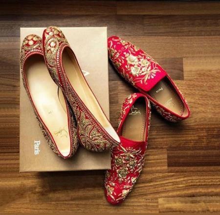 Personalised shoes   Customised wedding shoes   Sabyasachi Mukherjee   Christian Louboutin   Ranveer Singh and Deepika Padukone Wedding  