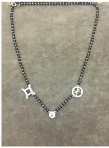 Sonam Kapoor Ahuja   Customised mangalsutra   Personalised jewelry   Zodiac charms   Diamond magalsutra design  