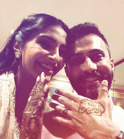 Celebrity weddings | Henna ideas fro boys | Groom mehendi | Sonam Kapoor and Anand Ahuja |
