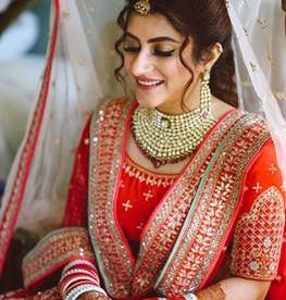 Red Bridal lehenga | Anita Dongre | Trishala Love Bug | Blogger wedding | Bridal Look | Bridal Makeup | Bridal Jewelry | Bridal Portraits | Wedding photography | Sabyasachi Sherwani | Kalire | The Wedding Salad