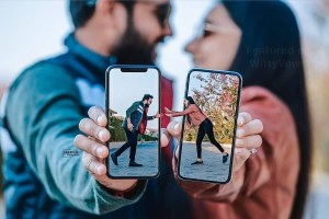 Indian wedding Apps every indian bride needs to plan her wedding | couple pre wedding shoot with phones