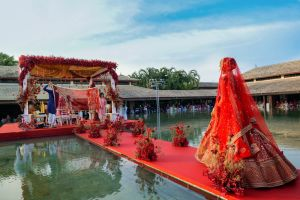 Prianka and Nico | Destination wedding in Phuket Thailand | Bride in Red Sabyasachi Lehenga | Indian Wedding Photography