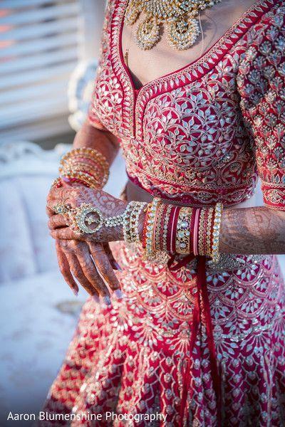 latest bangle designs | Getting ready photoshoots | Pretty bangles | Red lehenga | Gota patti work | Red bride | indian weddings | Wedding Photography