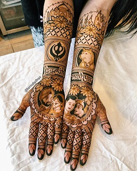 2020 Wedding Trend | ndian bridal mehendi 2020 | Bridal mehendi with names | Portraits | Mehendi artist |