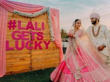 wedding hashtag | adding names to yur wedding decor | indian wedding trends 2020