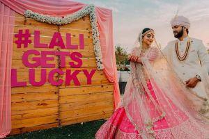 wedding hashtag   adding names to yur wedding decor   indian wedding trends 2020