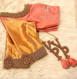 Personalised Latkans   Pom Poms   Trending new blouse design ideas for Indian Brides   South Indian Brides   fashion