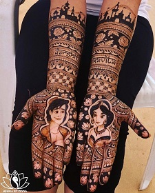 Disney Henna ideas | Personalised Henna designs | Indian Mhehndi Artist | Add names to your bridal mehndi