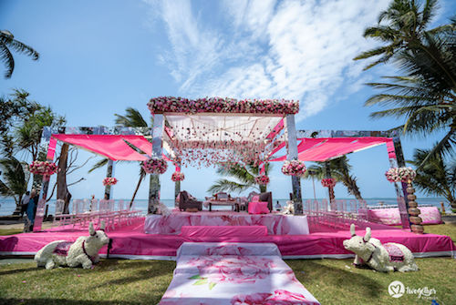 #pasha2019 | Beach wedding in Kenya | Paayal & Samir | Mandap decor | Pink decor