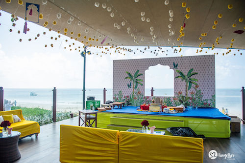 Haldi decor ideas | Mehendi decor inspiration | Beach wedding decor | Wedding inspiration | beachside