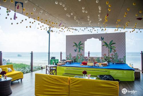 Haldi decor ideas | Mehendi decor inspiration | Beach wedding decor | Wedding inspiration | beachside