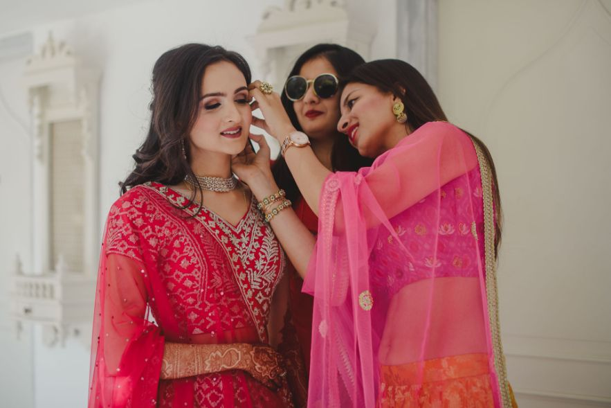 bridesmaids photoshoot with a bride   Priyanks and Parth's dreamy wedding in Jaipur