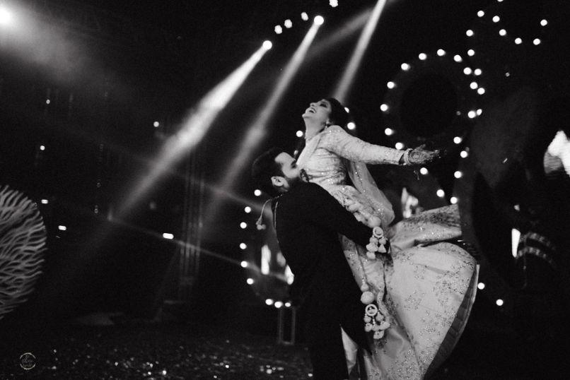 sangeet night | couple dancing on sangeet night