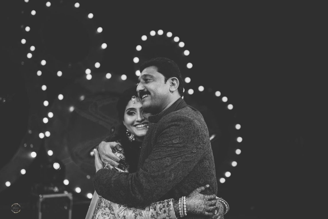 bride with her father |m sangeet night | emeotion moment