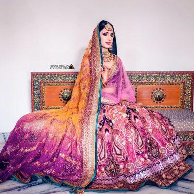 multicoloured lehenga for indian brides | brdal lehenga #wittyvows #lehenga #colouredlehenga #