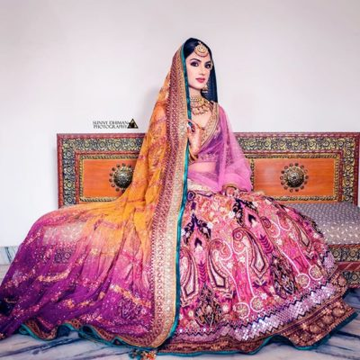multicoloured lehenga for indian brides | brdal lehenga #wittyvows #lehenga #colouredlehenga #