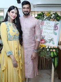 Hanna & Shahrukh for their Roka ceremony | Roka at home |