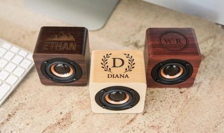 Trending Wedding Souvenirs | customized bluetooth speakers