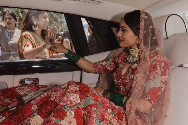 bidaai moment after wedding rituals | a stunning wedding in California