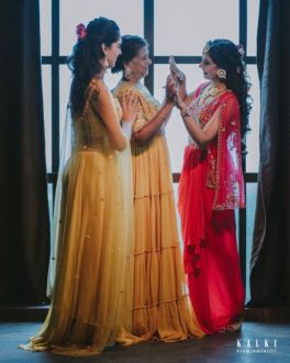 Actor Niti Taylor with her mother and sister