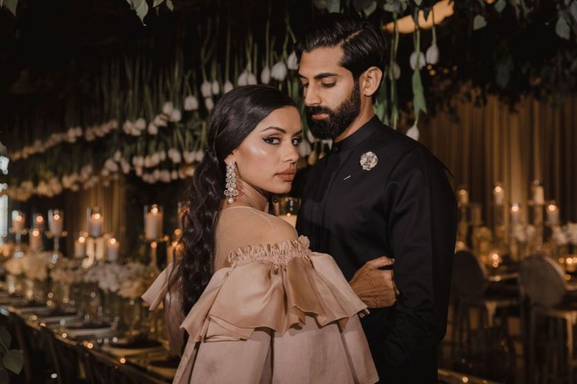 Stunning wedding in California | Riya and Ankur after their wedding posing for pictures