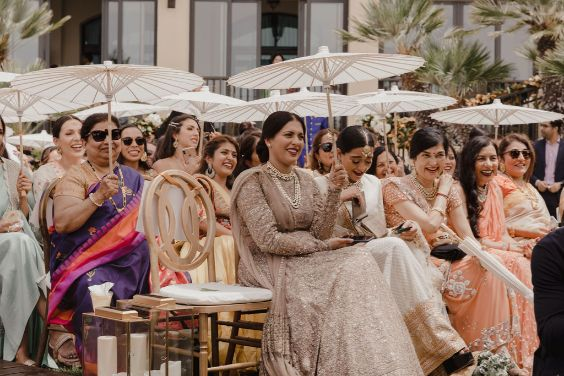 guests pampering them self at the wedding | a stunning wedding in california