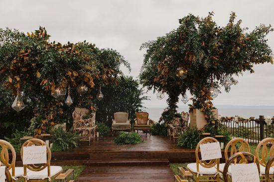 mandap decor at Riya and Ankur's wedding | Stunning wedding in California