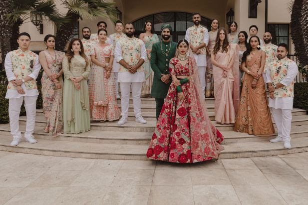 family portrait after wedding ceremony | a stunning wedding in California