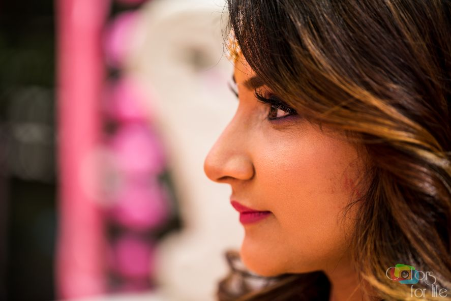 stunning blogger bride Shreya | Bridal Lehenga Designed by the Bride