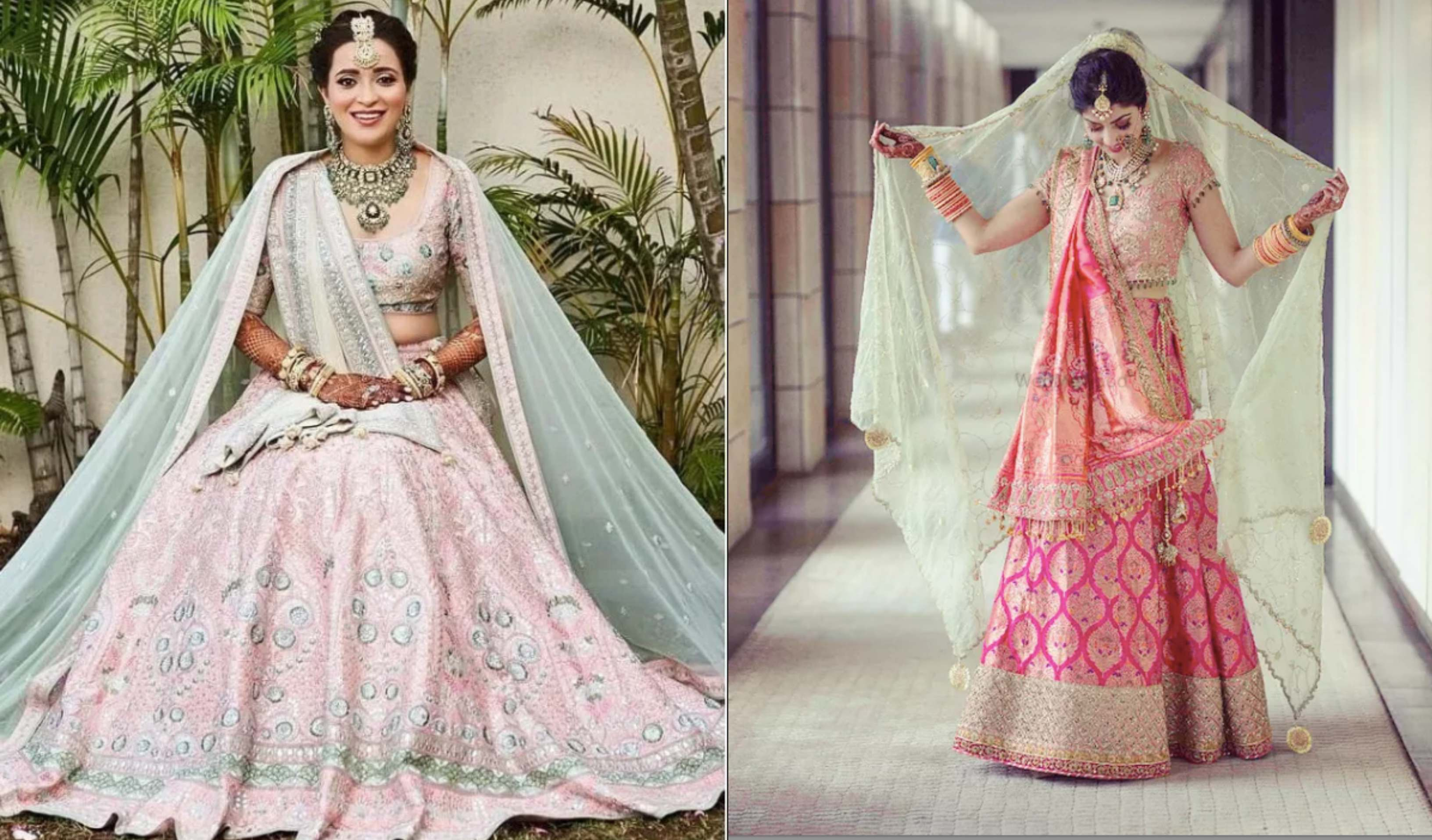 Double Dupatta Colour Combinations For Indian Brides Witty Vows