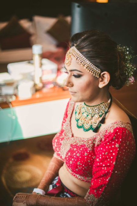Indian bride getting ready photoshoot ideas