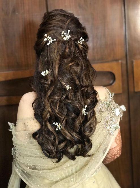 reception day hair