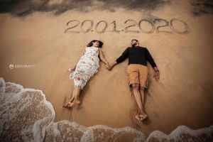 pre wedding shoot on the beach | save the date ideas for indian weddings