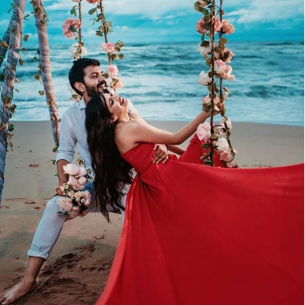 Beautiful couple posing for pre wedding photoshoot | Indian Wedding Songs for Pre-Wedding