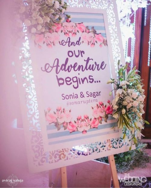 Wedding Signboard | Indian Wedding Decoration Ideas