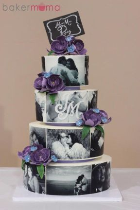 photo cake with pre wedding photos | Pre Wedding Photo Shoot - How to use photos in Wedding