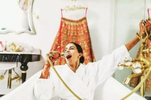 gettingready bath tub shots for swag indian brides | getting ready swag brides 2020 #wittyvows #indianwedding