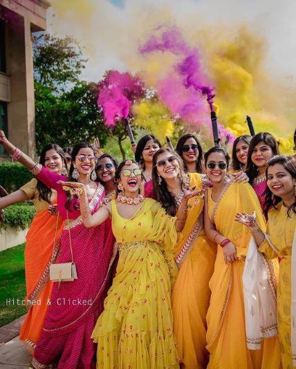 stunning way to enter your haldi day | Wedding Trends for Haldi Ceremony