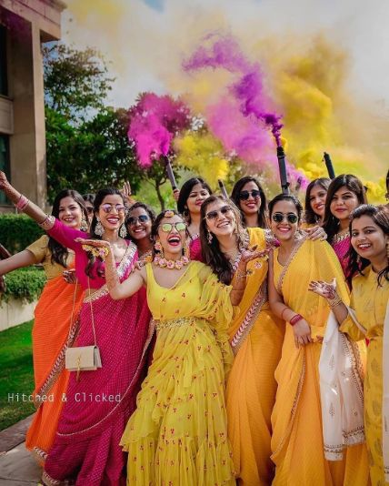 stunning way to enter your haldi day | Wedding Trends for Haldi Ceremony