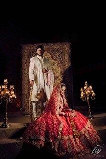 kashika  & Anirudh on their wedding day   sabyasachi bride